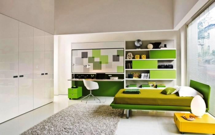 E Saving Lime Green Kids Bedroom