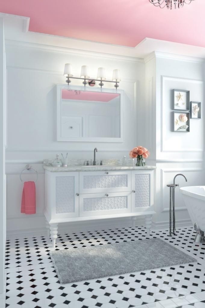 Stylish Pink Bathroom