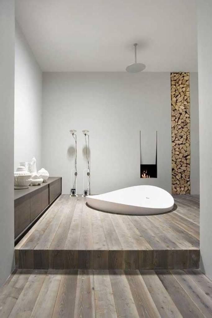 High Quality White Contemporary Minimalist Bathroom Design