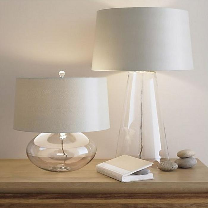 For Those Of You Fond On The Simplicity And Clarity, We Present You The So  Clear, So Airy And So Zen Zak Glass Base Table Lamps, Combined With Soft ...