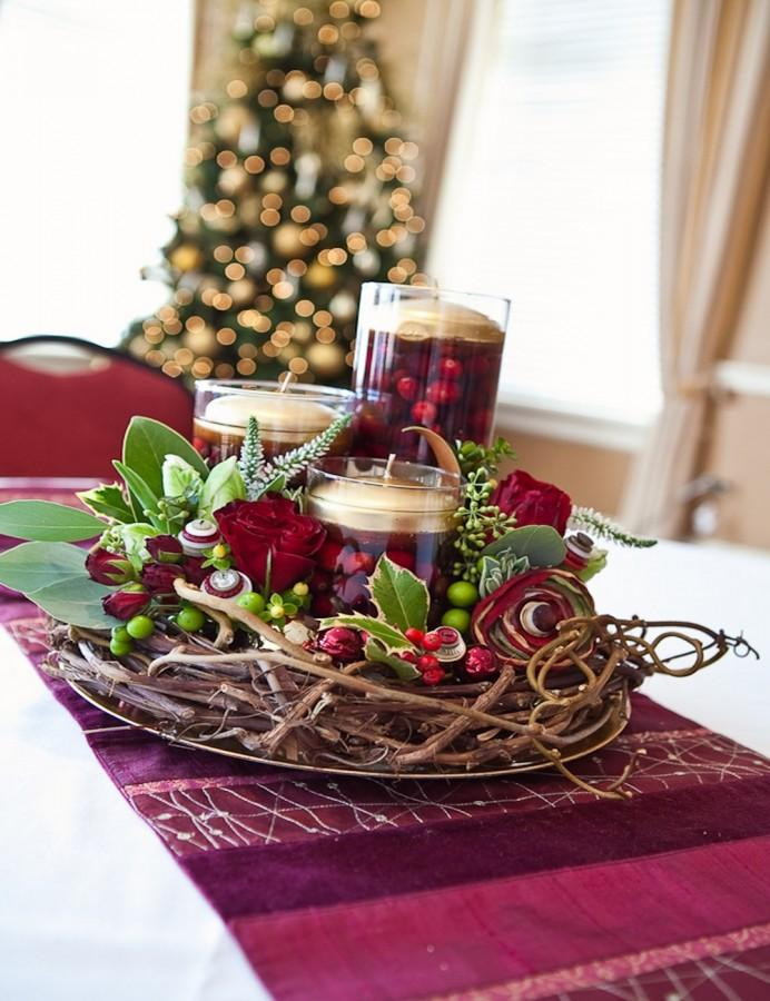 10 classy christmas centerpieces for a very jolly holiday for Classy xmas decorations