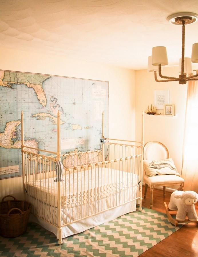 Iron crib in 12 designs for a serene touch in the nursery rilane - Vintage antique baby room ideas timeless charm appeal ...