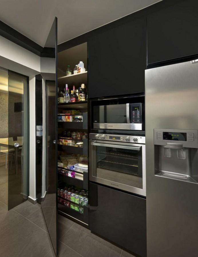 super sleek black pantry
