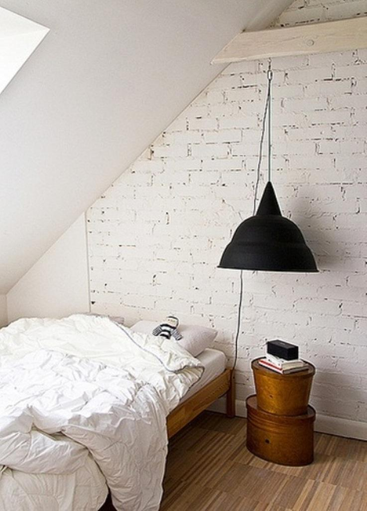 White Brick Walls In Contemporary Bedrooms Rilane - Bedrooms brick walls