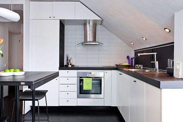 captivating country kitchen decor   17 Captivating Attic Kitchen Designs - Rilane