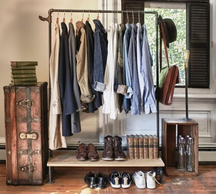 12 Superb Bedroom Clothes Rack Designs - Rilane