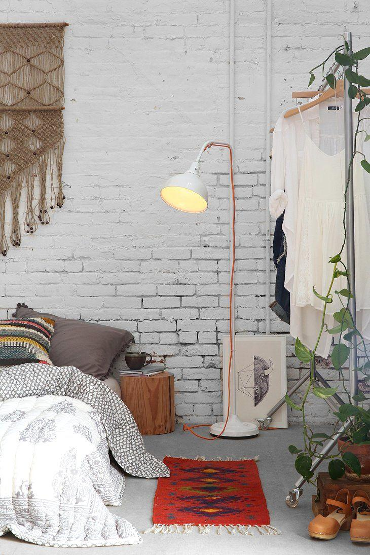 Bold Boho Bedroom With Whitewashed Walls
