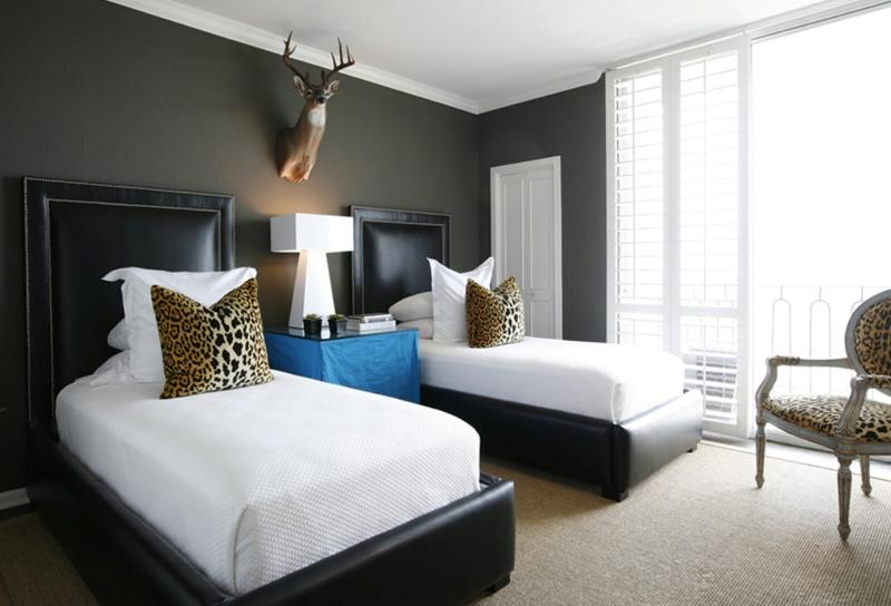 Bold Master Bedroom With Animal Print