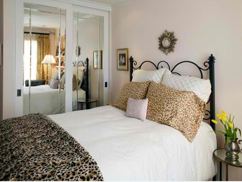 Bright Bedroom With Animal Print
