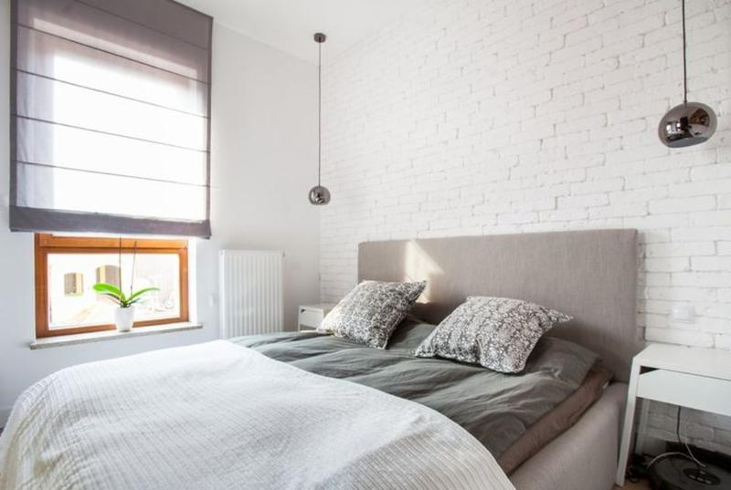 Classy Brick Bedroom Decoration Design Inspiration Of - White brick interiors