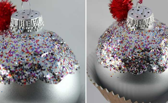 how to make fake cupcake ornaments