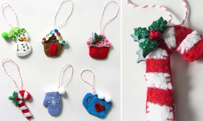 mini advent ornaments set one check out this super creative and immensely easy tutorial that will teach you how to make a set of mini advent ornaments with - Mini Christmas Decorations