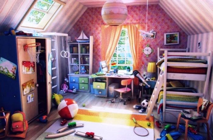narrow attic bedroom ideas - 15 Interesting Kid's Attic Bedroom Ideas Rilane