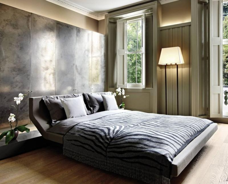 Contemporary Bedroom with Animal Print Bedding & Animal Print in 33 Chic and Modern Bedroom Designs - Rilane