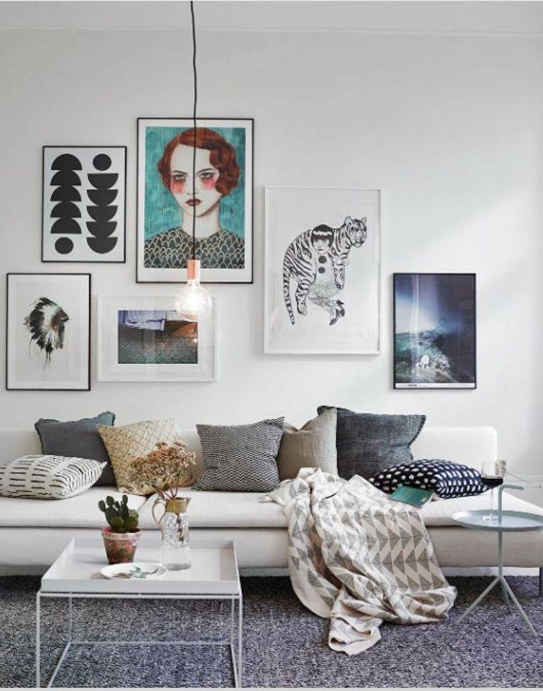 Source Gallery Wall In 30 Contemporary Living Room Designs Rilane