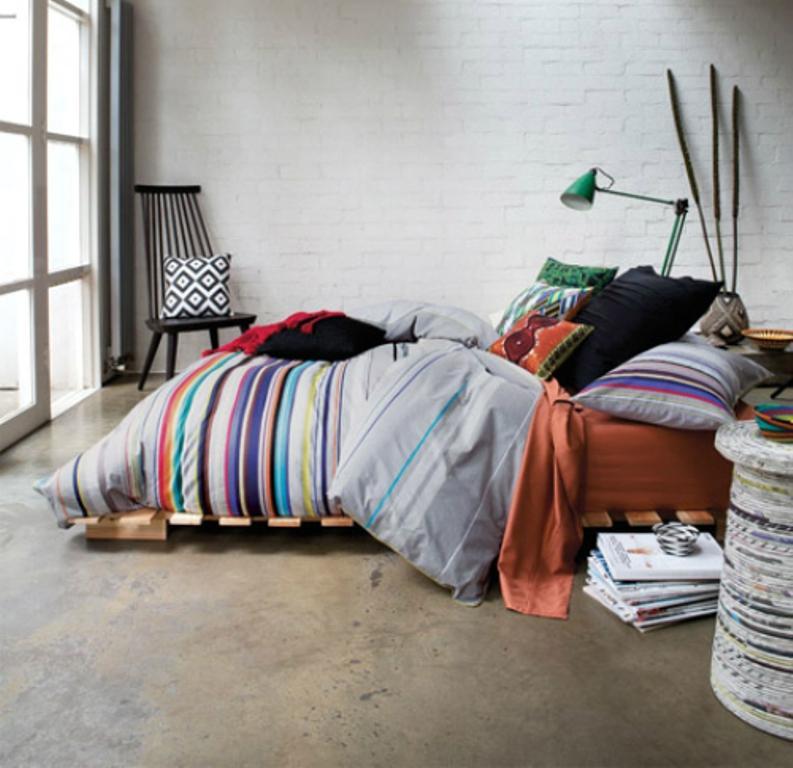 Dramatic Bedroom With Concrete Floor