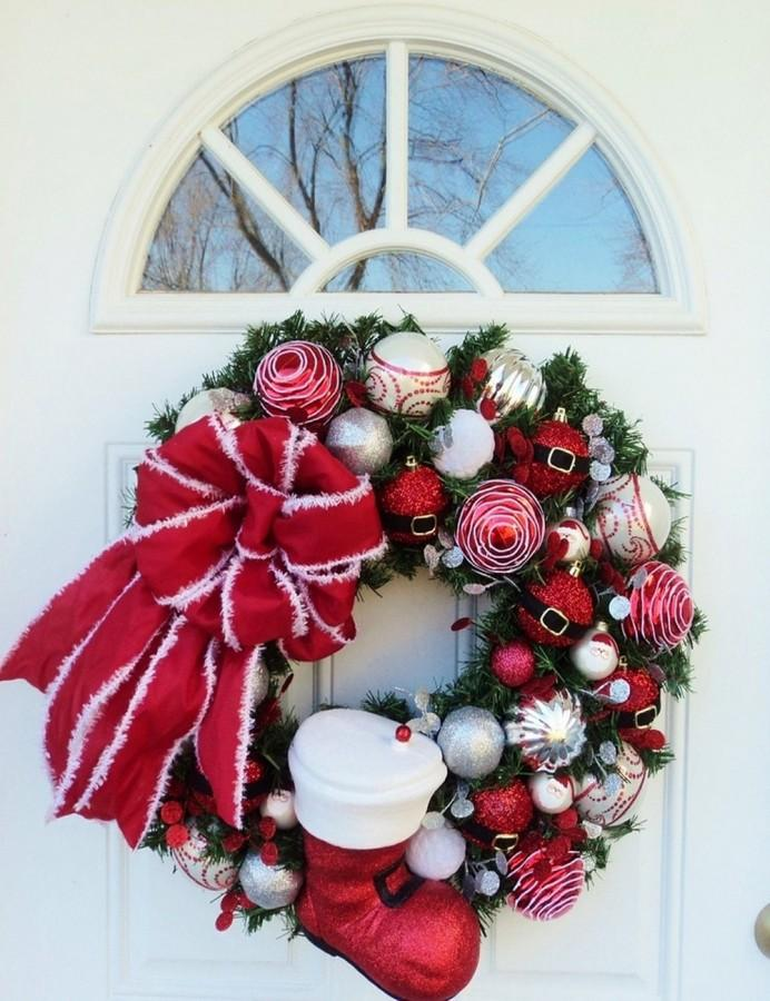Outdoor Christmas Door Wreath