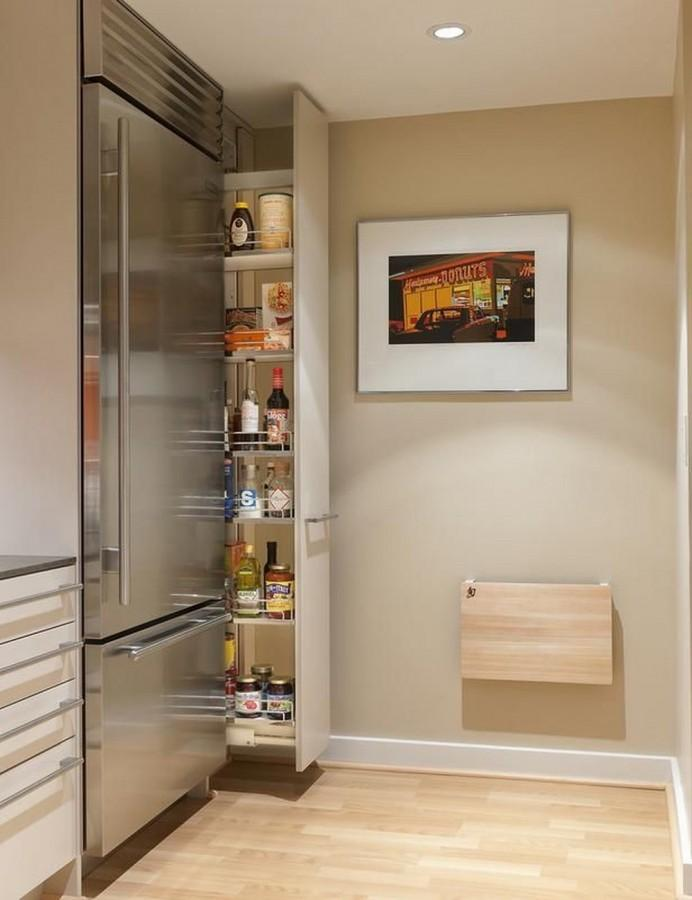 smartly hidden pantry design