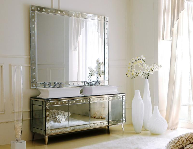 High End Italian Mirrored Bathroom Vanity