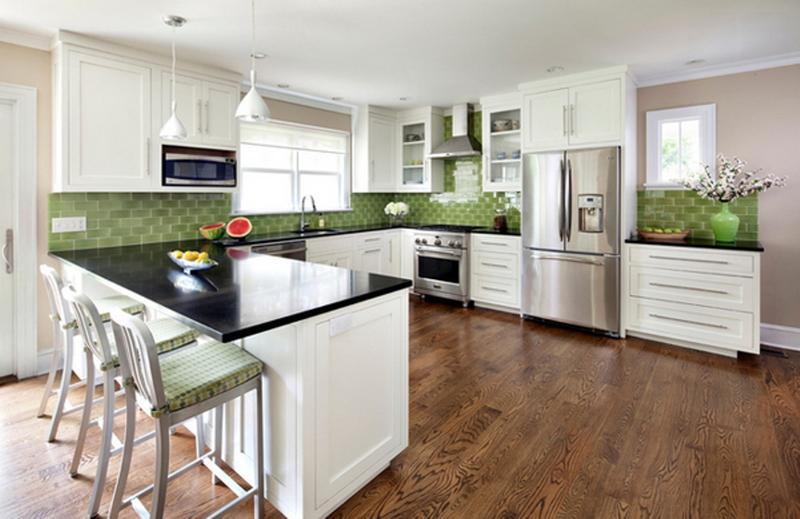 homey u shaped kitchen