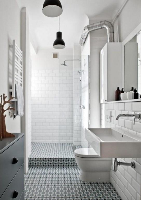 The Clean White Subway Tiles Totally Adapt In The Industrial Urban Setting  Of This Narrow Bathroom, And Work As Awesomely Sleek And Bright Foundation.