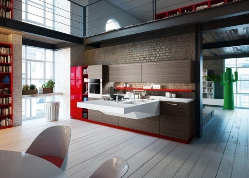 18 Contemporary Kitchen Designs With Brick Backsplash