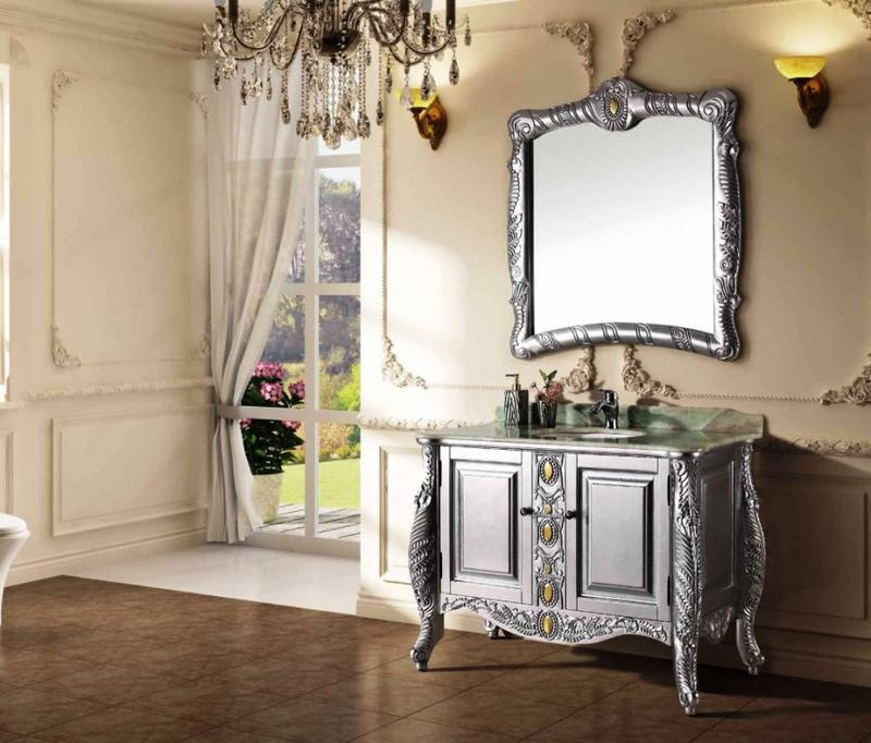 Luxurious and Elegant Mirrored Bathroom Vanity. Mirrored Bathroom Vanity in 10 Enchanting Design Ideas   Rilane