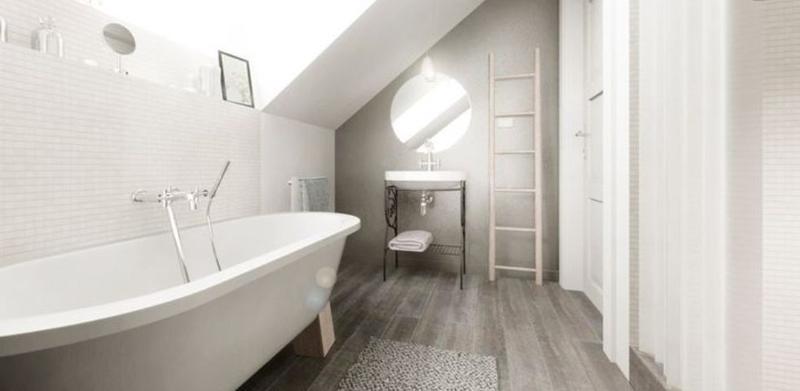 Wooden Floor In 20 Natural Bathroom Designs Rilane