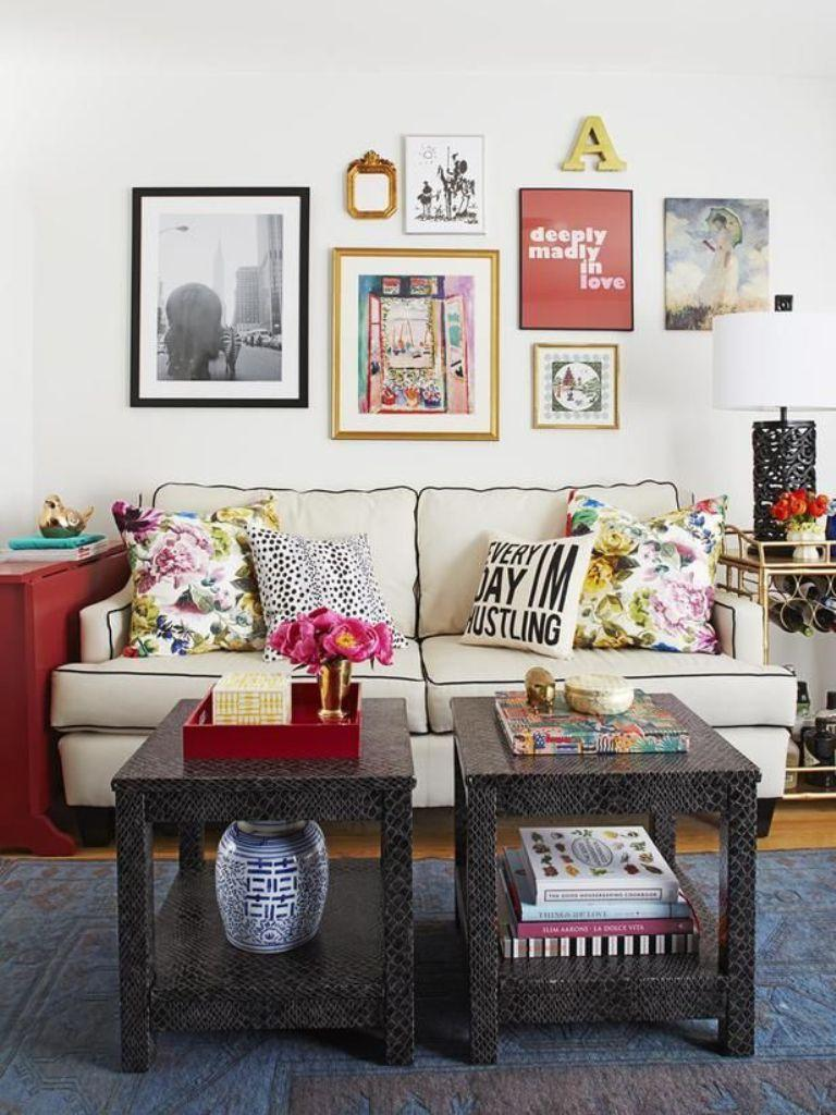 Gallery Wall In 30 Contemporary Living Room Designs - Rilane