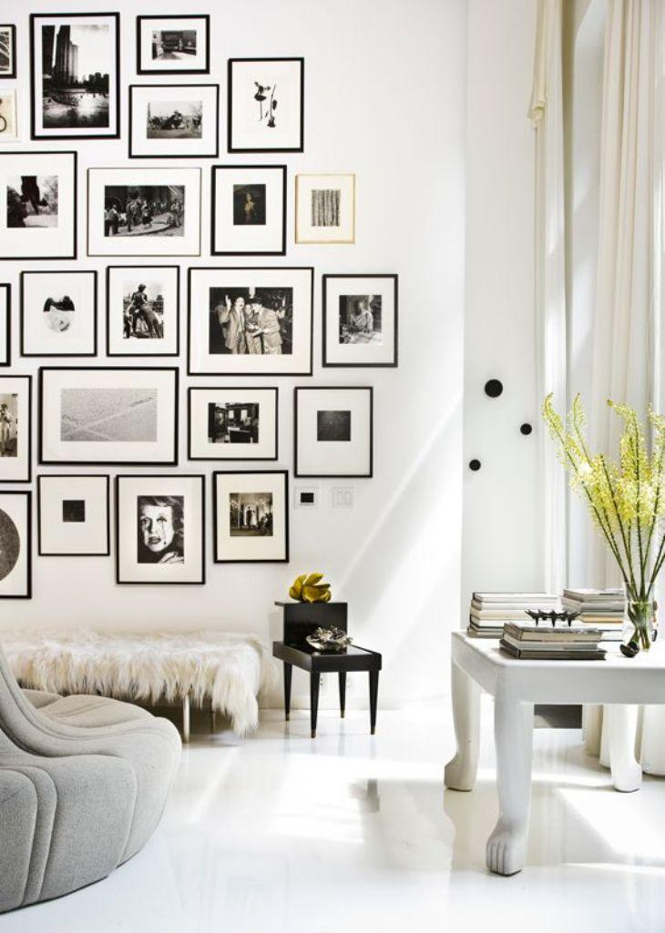 Interior Design For Living Room Photo Gallery: Gallery Wall In 30 Contemporary Living Room Designs