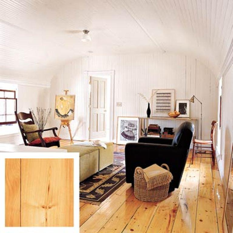 Pine Knotty Planks Complement The Modern Rustic Living Room