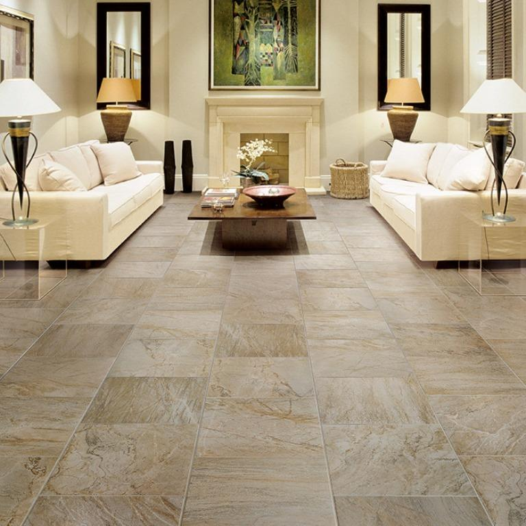 Living room flooring useful solutions and superb design ideas rilane - Things to know when choosing ceramic tiles for your home ...
