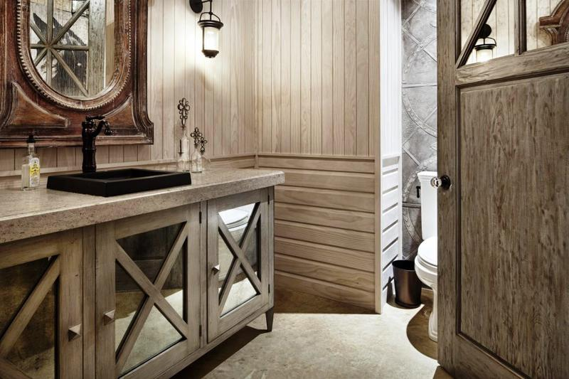 reclaimed wooden mirrored bathroom vanity - Bathroom Vanity Design Ideas