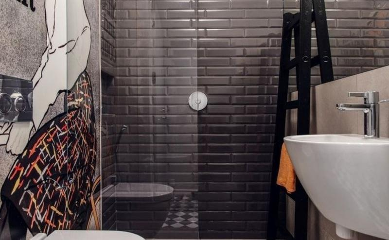 Black Subway Tile subway tiles in 20 contemporary bathroom design ideas - rilane