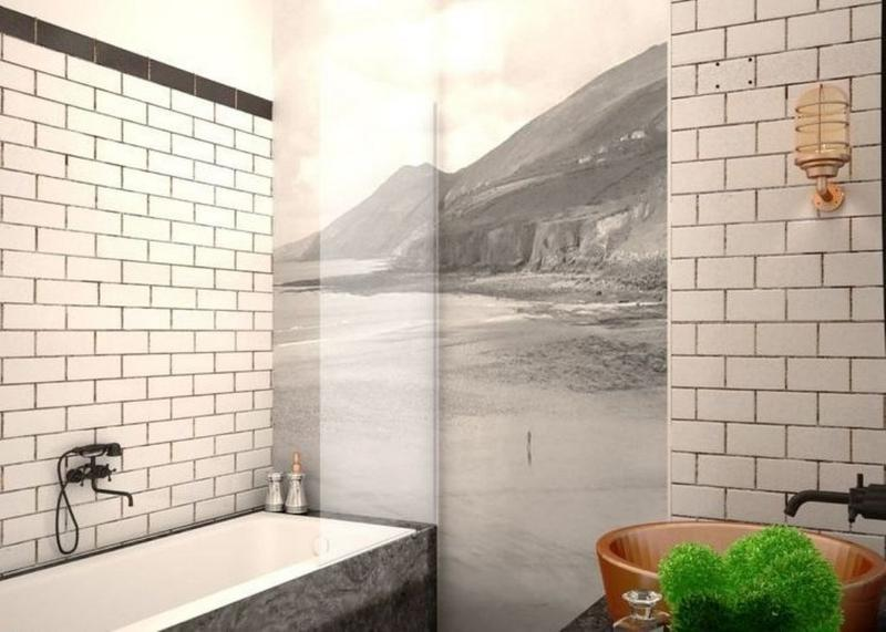 Subway Tiles In 20 Contemporary Bathroom Design Ideas Part 16