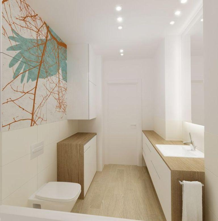 Small Bathroom With Wood Floor