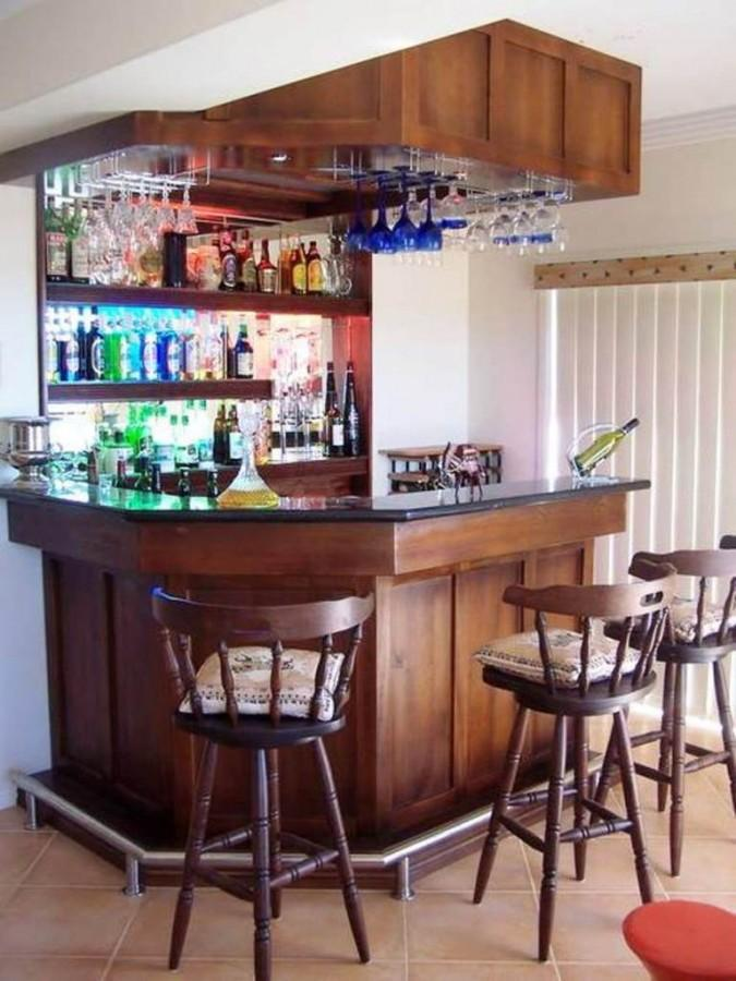 10 attractive mini liquor bars for the kitchen rilane for Kitchen set mini bar