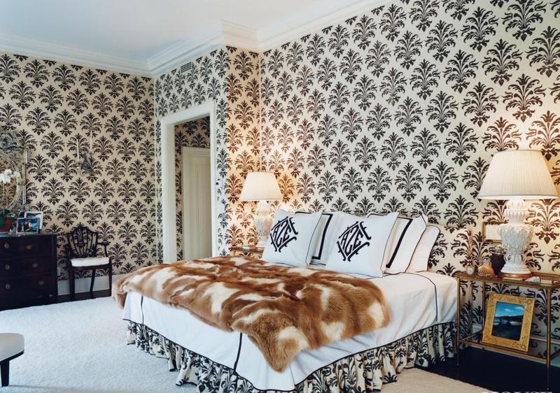 Tiger print wallpaper bedroom decor