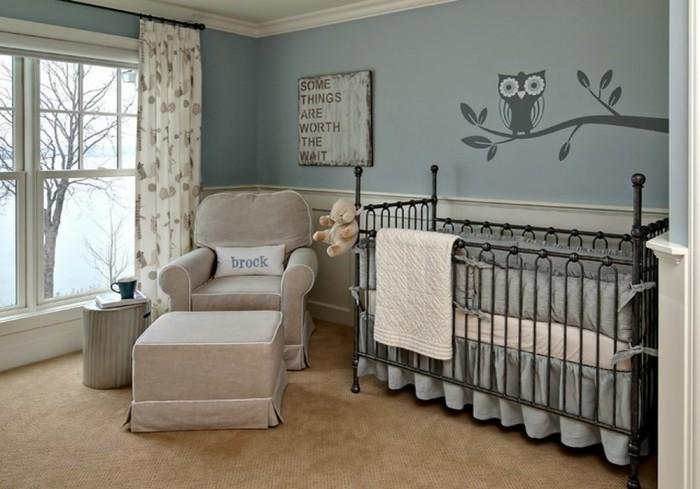 Interesting Dark Grey Nursery Crib