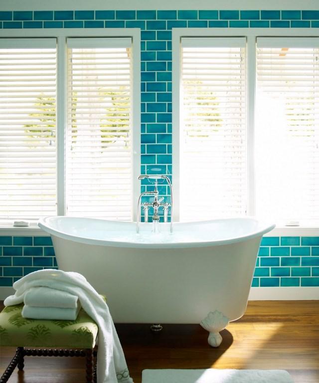 Subway Tiles in 20 Contemporary Bathroom Design Ideas - Rilane