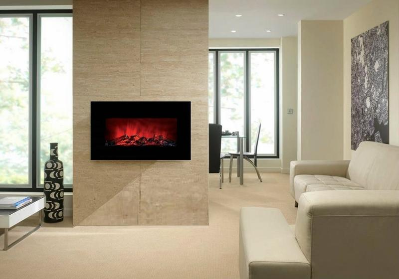 Gentil Brilliant Wall Mount Fireplace Design