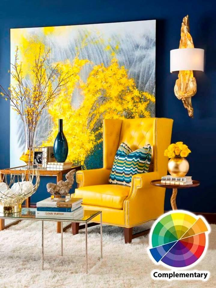 Living room colour scheme in exquistie 23 design ideas - Yellow and blue paint scheme ...