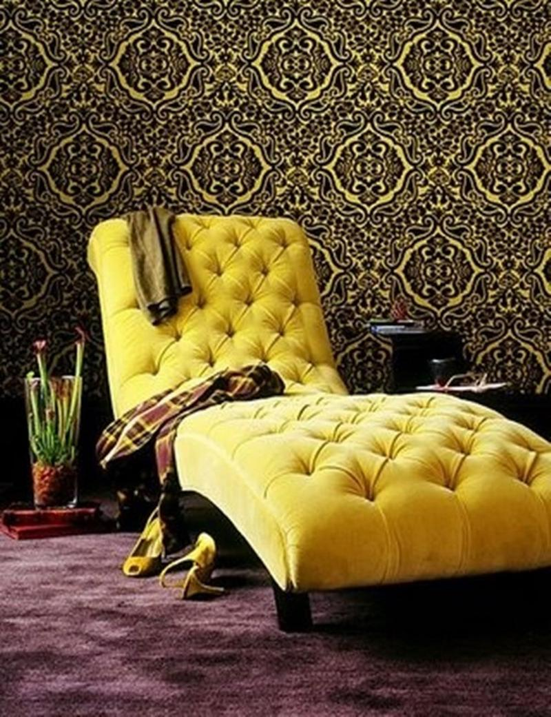 Bedroom chaise lounge in 12 gorgeous designs rilane for Chaise design coloree