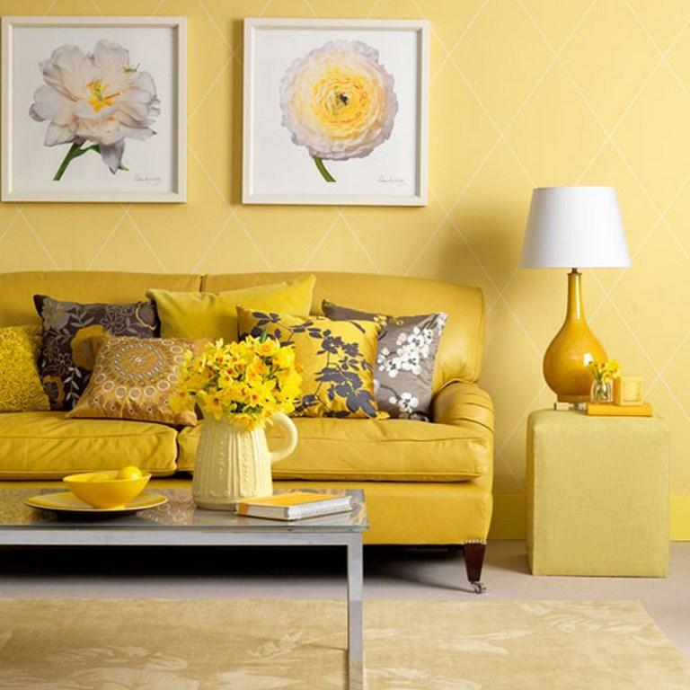 All Yellow Living Room