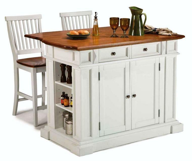 Portable Kitchen Islands In 11 Clean White Design