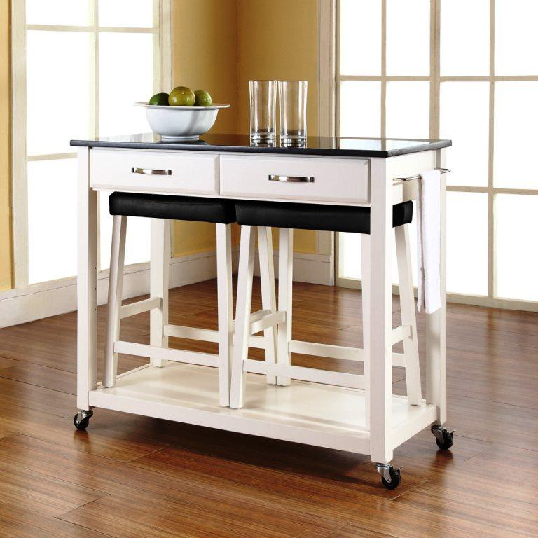 Black Kitchen Island Uk: Portable Kitchen Islands In 11 Clean White Design