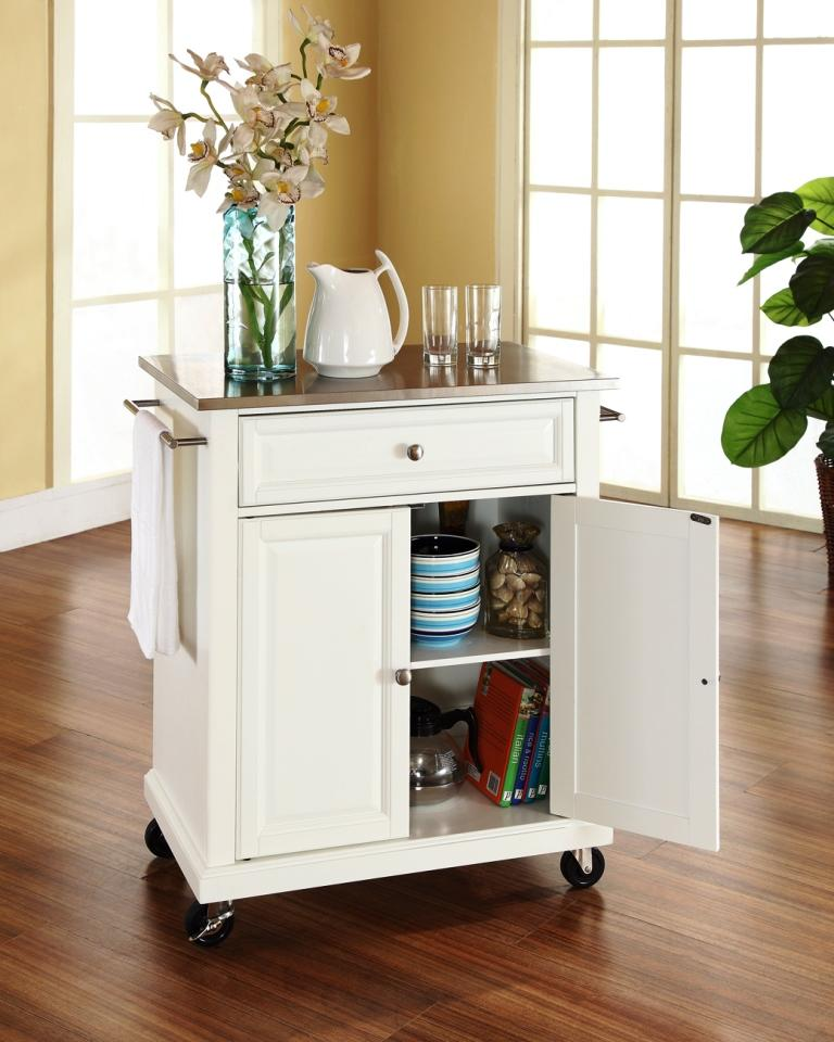 astonishing white portable kitchen islands | Portable Kitchen Islands in 11 Clean White Design - Rilane