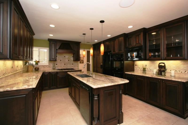 Interior Expresso Kitchen Cabinets espresso kitchen cabinets in 12 sleek and cool designs rilane awesome country cabinet