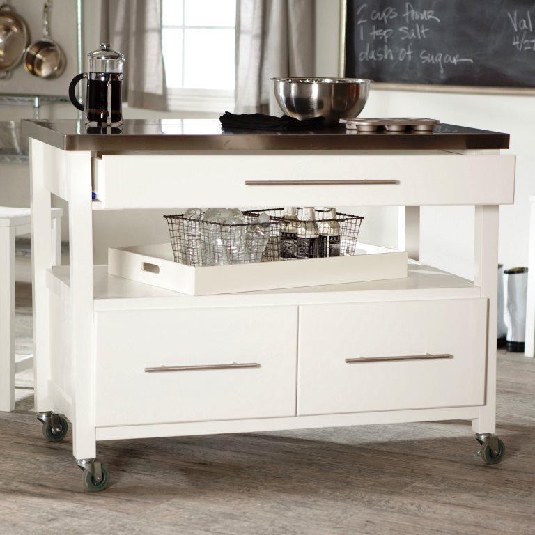 Portable kitchen islands in 11 clean white design rilane belham living concord kitchen solutioingenieria Gallery