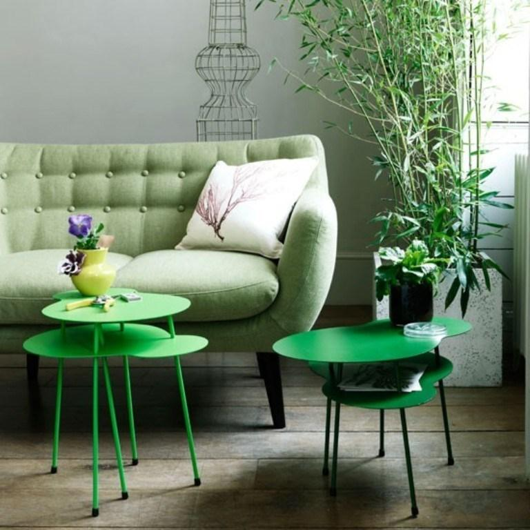 Botanical Green Color Scheme & Living Room Colour Scheme In Exquistie 23 Design Ideas - Rilane